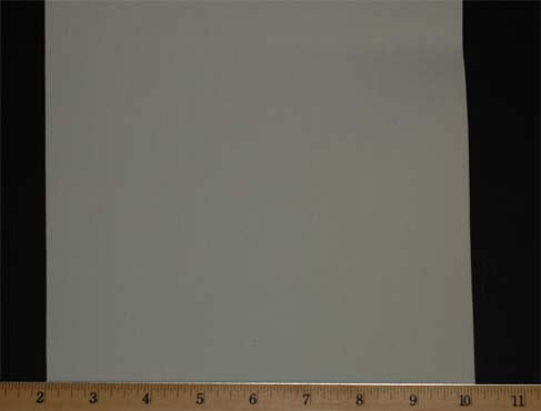"Extra Wide Elastic - Cotton Gabardine Gore-8"" Wide White Laid Flat with Ruler to Show Width"