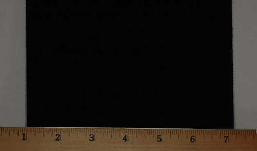 "Extra Wide Elastic - Cotton Gabardine Gore-6"" Wide Black Laid Flat with Ruler to Show Width"
