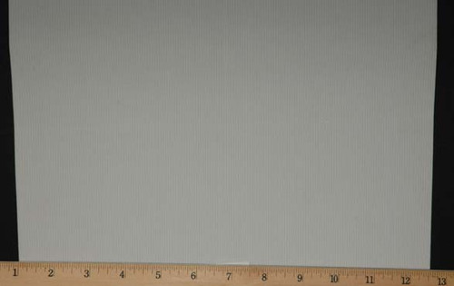 "Extra Wide Elastic - Polyester Rubber Knit -12"" Wide White Laid Flat with Ruler to Show Width"