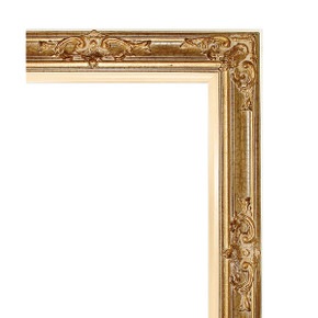 Grand Victorian Frame 36X66 Antique Crackle