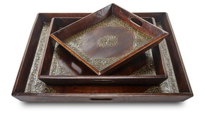 Brass Work Tray - Set of 3