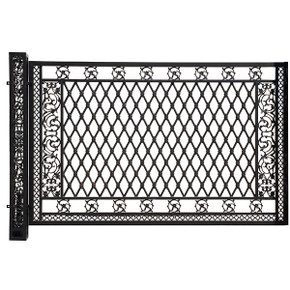 Bridgeton Moore Aluminum Large Fence Panel with Post