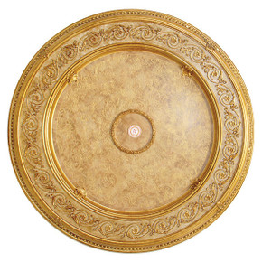 Burl Cream Round Chandelier Ceiling Medallion