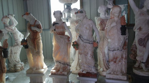 Four Seasons on Base in Multi Colored Marble 17901