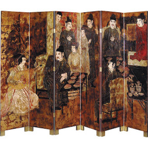 Asian Feast 6 Panel Screen