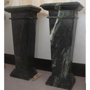 PairGreen Marble Pedestals