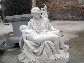 Marble Pieta After Michelangelo