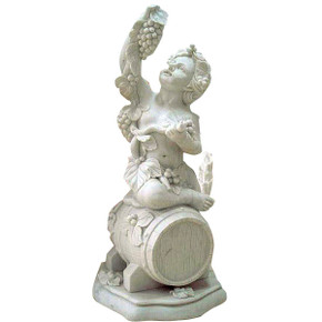 White Marble Vineyard Statue