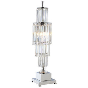 Crystal Fountain Table Lamp