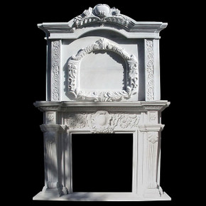 Mantle 2 Tier -Wht Marble (42x42)