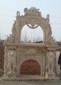 Travertine Double Arch