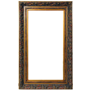 Spec Fleur De Lis Frame 24X48 Burnished Gold