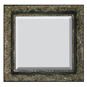 Spec Fleur De Lis Frame 36X36 Black with Verde