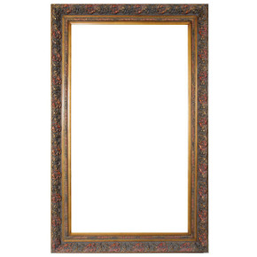 Spec Fleur De Lis Frame 36X66 Burnished Gold
