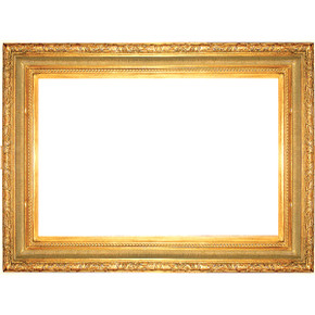 Large Ribbed Foliate Frame 36X36AG