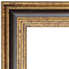 Grand Wood Frame 36X36 Old English Wood