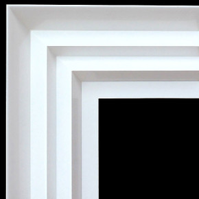Modern Wave Frame 36X48 White