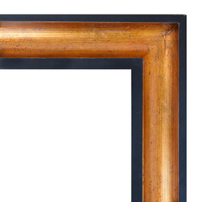 Wood Scoop Frame-Gold 36X36-399