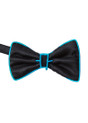 Aqua EL Wire Light Up Bow Tie