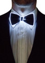White EL Wire Light Up Bow Tie