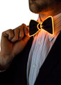 Orange EL Wire Light Up Bow Tie