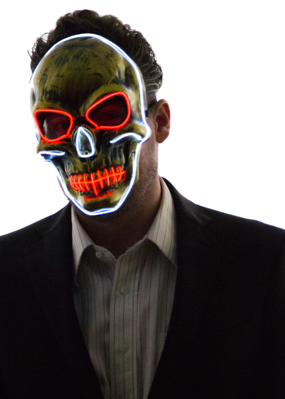 Glowing Skull Face Mask - Neon Nightlife
