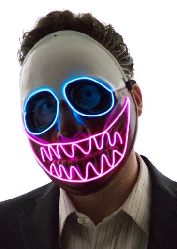 foto de Glowing Nightmare Before Christmas Mask Neon Nightlife