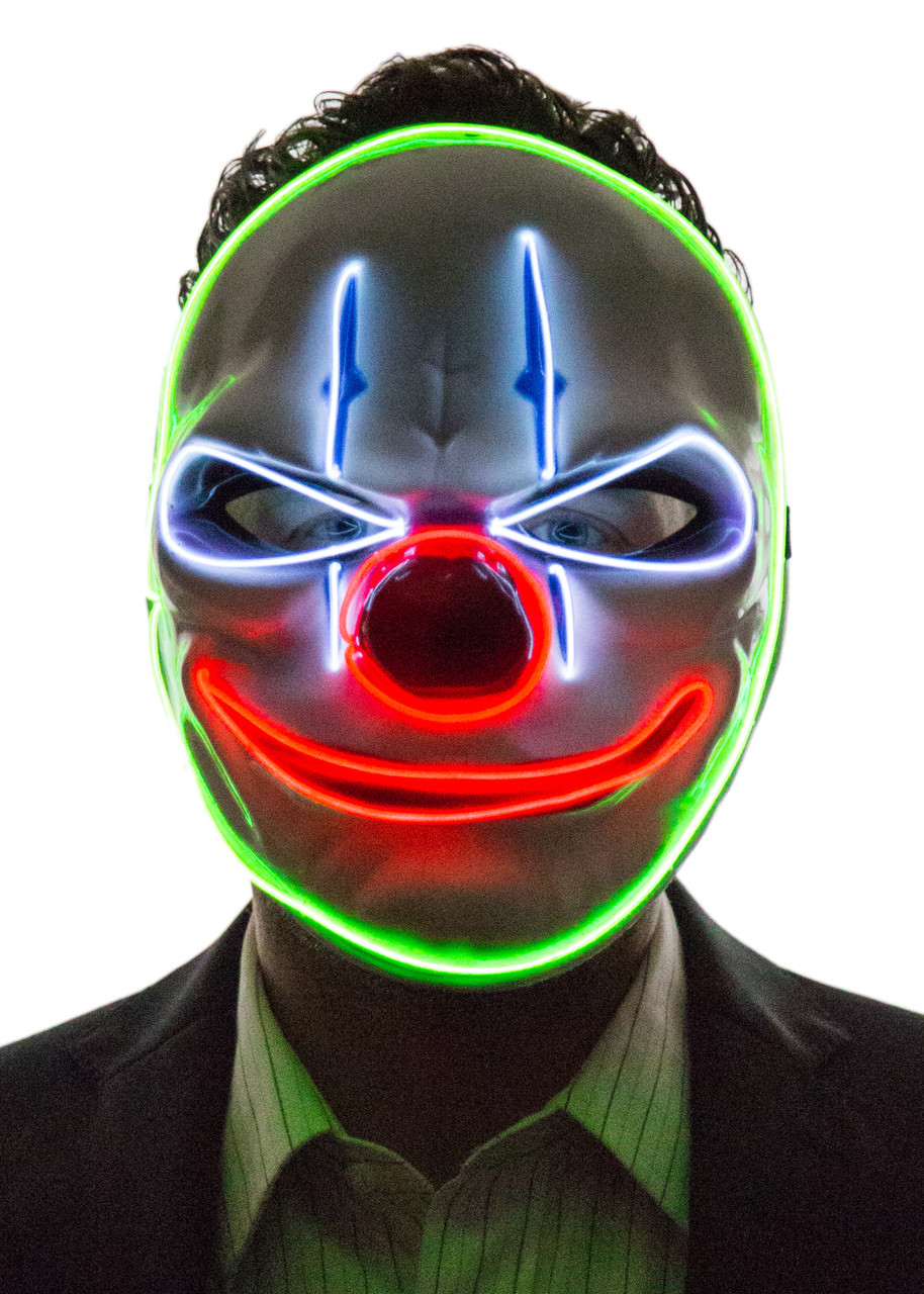 Glowing Angry Clown Mask