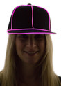 Pink Light Up Snapback Baseball Hat for Women