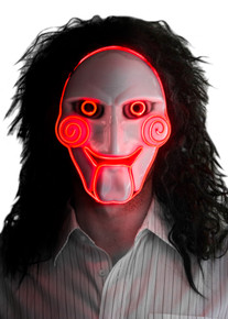 Creepy Saw Movie Jigsaw Puppet / Clown Cosplay Mask
