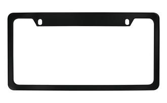 Plain Black Powder Coated License Plate Frame (K-U)