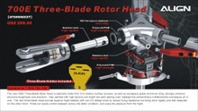 H70H008XX 700E Three-Blade Rotor Head