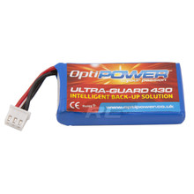 Optipower Ultra-Guard Replacement 430mA Lipo Battery B4302S