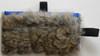 All-natural rabbit fur treat bag.