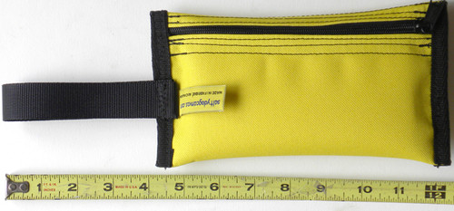 "Pouch measures 4-1/2"" (11.5cm) wide and 8"" (20cm) long."