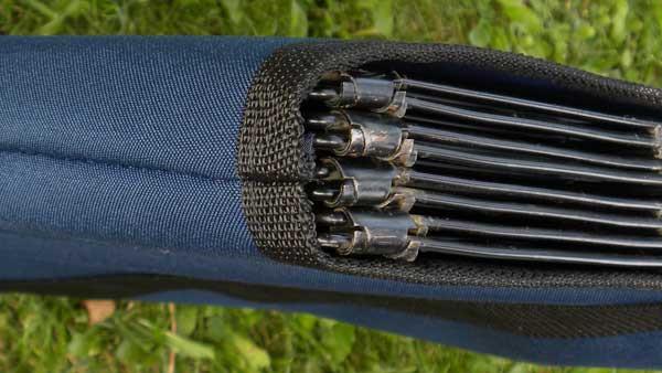 Top edge reinforced with heavy duty polypropylene webbing.