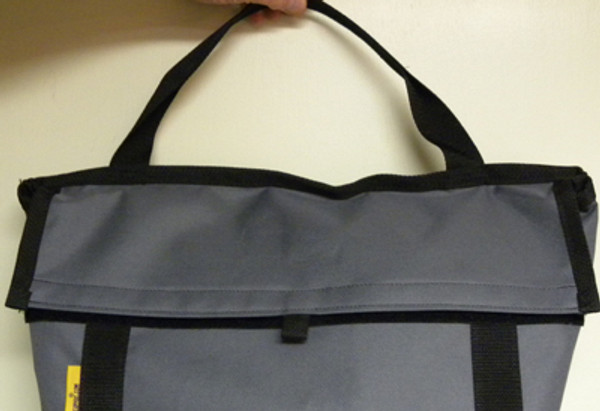 Velcro fastened flap is available on custom carriers.