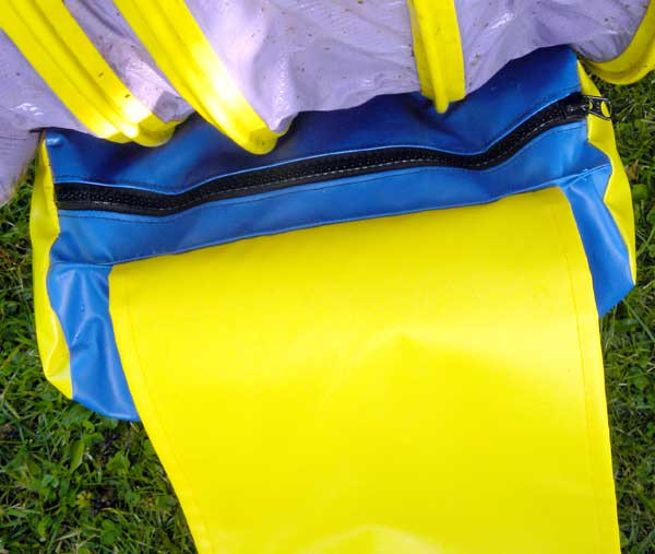 """Bags are easy to fill, perform well and resolve most tunnel bag issues. One-piece strap. Color-coordinated two-piece straps makes it easy to find the corresponding side. Straps are fastened with 10"""" (25cm) of outdoor rated Velcro. Custom YKK lubricated zipper is UV coated."""