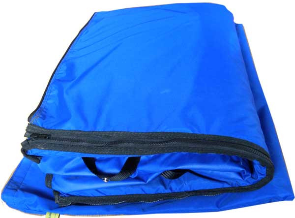 Includes a matching oversize storage bag with Velcro closure.