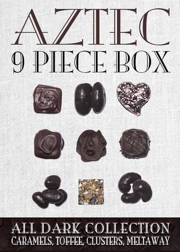 Aztec Collection Dark Chcocolate 9 Piece Box