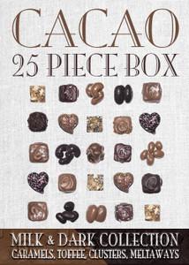 Cacao Collection Milk & Dark 25 Piece Box