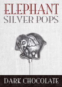Dark Chocolate Elephant Pop Silver