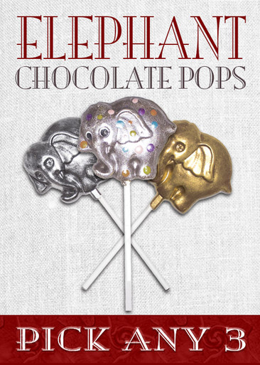 Decorated Chocolate Elephant Pops (Pick 3)
