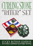 "Lucky Button ""Biter"" curling stone chocolate set"