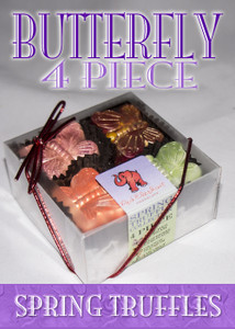 4 Piece Butterfly Shaped Mother's Day Truffle Box