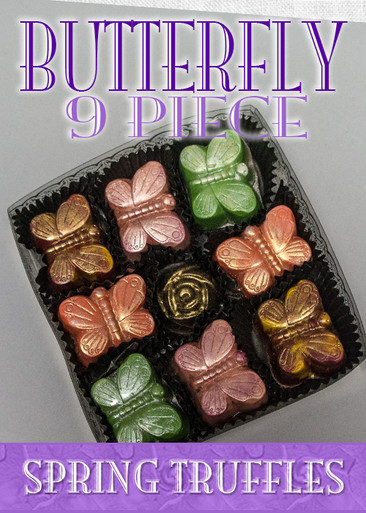 Spring Butterfly 9 Piece box with Theobroma Golden Rose