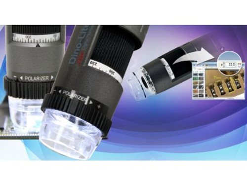 AM4515ZT Dino-Lite Edge - Automatic Magnification Reading (AMR), 20x-220x, polarizer