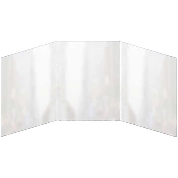 Triple Panel Foldout All Clear Menu Cover