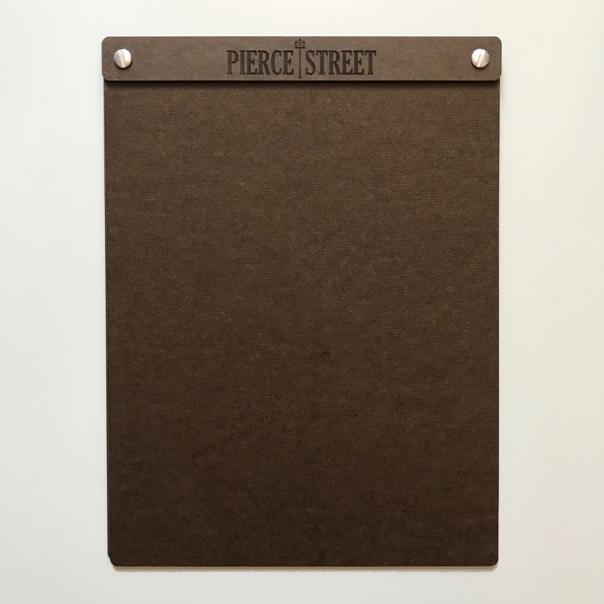 Hardboard Menu Board with Screws