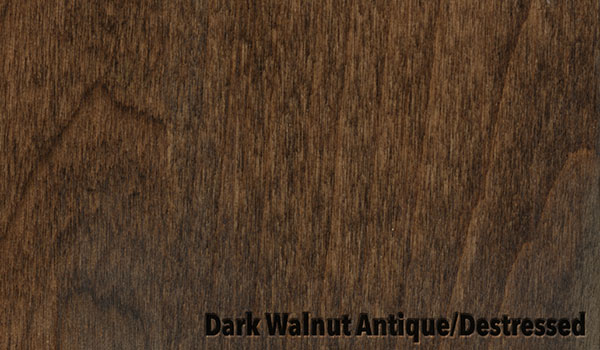 Dark Walnut Antique/Destressed